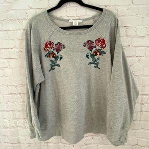 Workshop floral embroidery sweatshirt